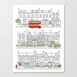 London houses Canvas Print
