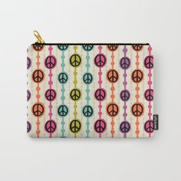 Peace Signs Hippie Beaded Curtain Carry-All Pouch