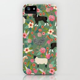 Farm gifts chickens cattle pigs cows sheep pony horses farmer homesteader iPhone Case