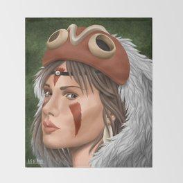 Mononoke Hime Throw Blanket