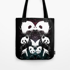 PANDA COLLIDE Tote Bag