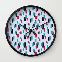 spring stripes Wall Clock