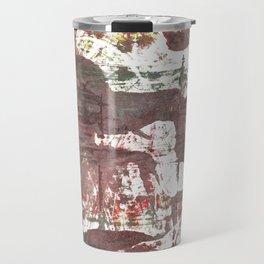 Deep Taupe abstract watercolor Travel Mug