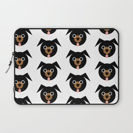 Black & Brown Dogs Pattern Laptop Sleeve