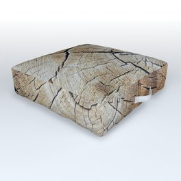 Tree rings of time Outdoor Floor Cushion