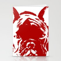 frenchie Stationery Cards featuring Frenchie by Red Eyes Apparel