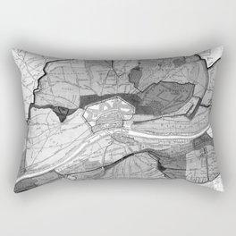 Vintage Map of Frankfurt Germany (1905) BW Rectangular Pillow