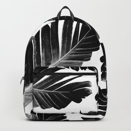Tropical Black Banana Leaves Dream #1 #decor #art #society6 Backpack