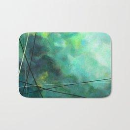 Crossed Green - Abstract Art Bath Mat