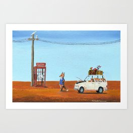 The Out of Service Phone Box Art Print