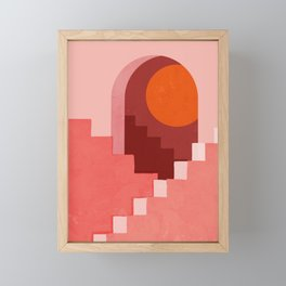 Abstraction_SUN_Architecture_Minimalism_001 Framed Mini Art Print