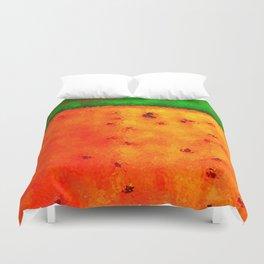 Orange Rain Field Duvet Cover