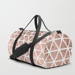 Geometric faux rose gold foil triangles pattern Duffle Bag