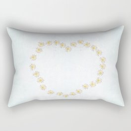 Daisy chains and daisy hearts Rectangular Pillow