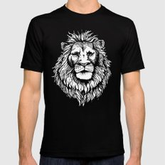 Lion (on dark) Mens Fitted Tee Black 2X-LARGE
