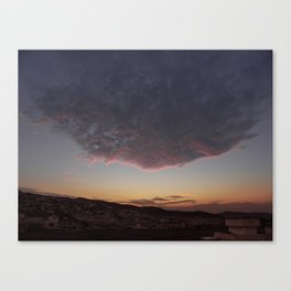Flying face Canvas Print