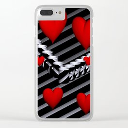 OpArt -51- Valentine coffeetime Clear iPhone Case
