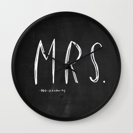 Mrs - Mr and Mrs wedding decoration Wall Clock
