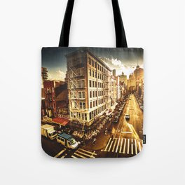 chinatown in nyc at dusk Tote Bag