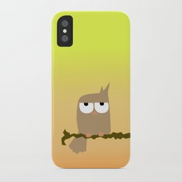 owl on a tree iPhone Case