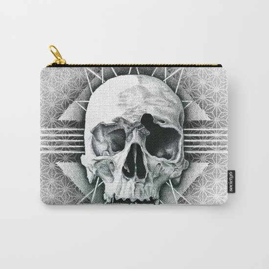 stippling skull Carry-All Pouch