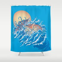nemo Shower Curtains featuring The Lost Adventures of Captain Nemo by Don Lim