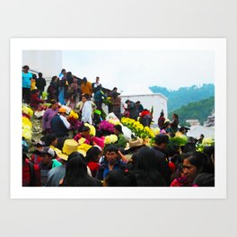 A bloom of colour at Chichicastenango market Art Print