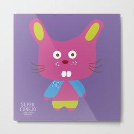 """""""Super Conejo"""" Metal Print"""
