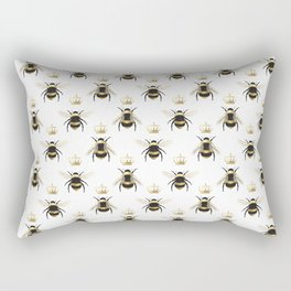 Gold Queen bee / girl power bumble bee pattern Rectangular Pillow