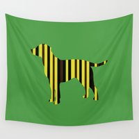 lab Wall Tapestries featuring All the Lab Colors, stripes by Crayle Vanest
