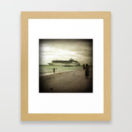 That's a Big Boat Framed Art Print