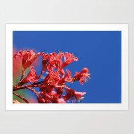 Simple(ly) Beautiful (Pink Plant Flower Leaf) Art Print