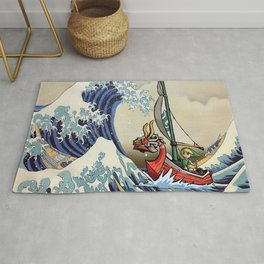Great Wave -  Free Shipping - darkgamer - gamer clothing and accessories Rug