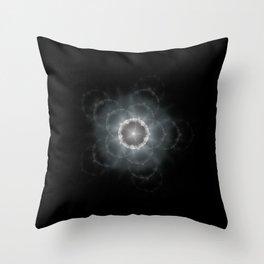 Space Flower Fractal Throw Pillow