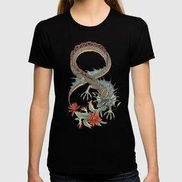 Botanical Flower Dragon 8 T-shirt