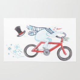 Walden's Red Bike Rug