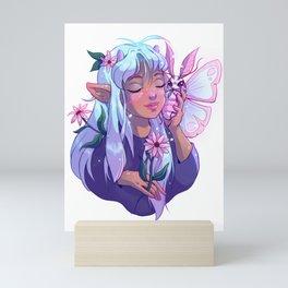 Moth Cuddle Mini Art Print