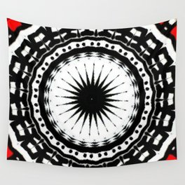 Red Black Fight Wall Tapestry