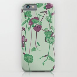 String of Hearts Plant Illustration - Portrait of Harriet 01 iPhone Case