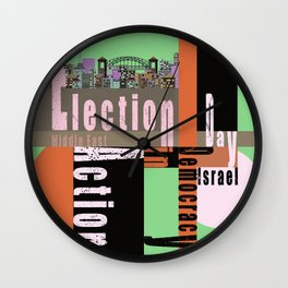 Election Day 6 Wall Clock