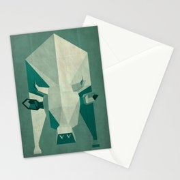 Picasso style abstract cow Stationery Cards
