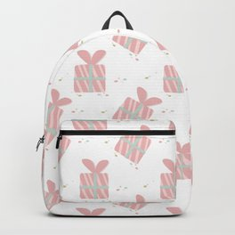Cute pink gift box pattern Backpack