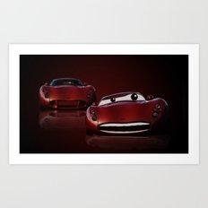 Red Cars Art Print