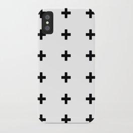 +++ (black) iPhone Case
