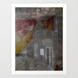 mural post volcano Art Print