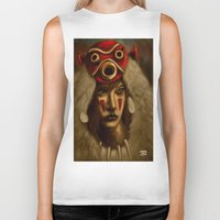 princess mononoke Biker Tanks featuring Mononoke by Debono Art