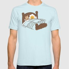 Breakfast In Bed  LARGE Light Blue Mens Fitted Tee