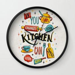Get Organized Wall Clock