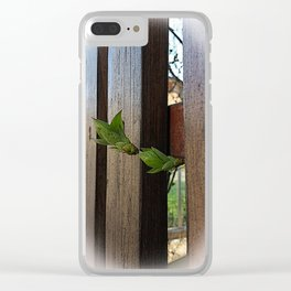 outside the fence Clear iPhone Case