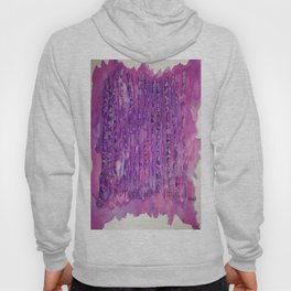Deep Purple Abstract Aspen Tree Watercolor Painting Hoody